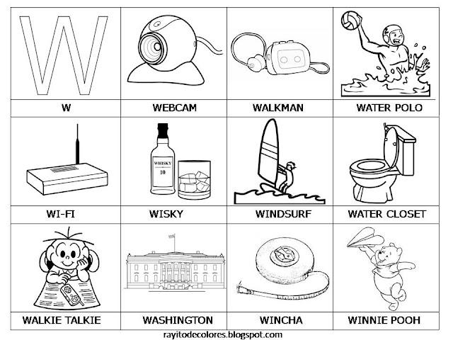 Objetos con la letra w - Imagui