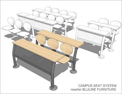 Sketchup texture sketchup free 3d model campus seat system for Arredi sketchup