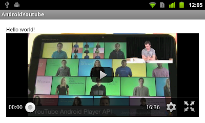 Youtube Player using experimental YouTube Android Player API