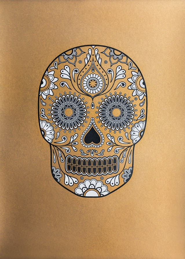 http://morbidanatomy.bigcartel.com/product/limited-edition-signed-gold-sugar-skull-screen-print-by-anatomy-boutique