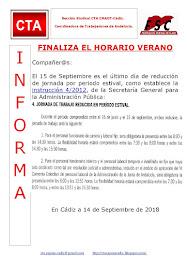 FINALIZA EL HORARIO VERANO