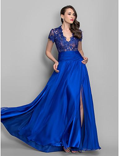 Vestido de Fiesta Azul Queen Anne
