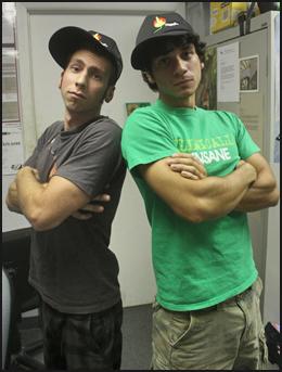 Aiguille staff rockin' the Aiguille Trucker Hats