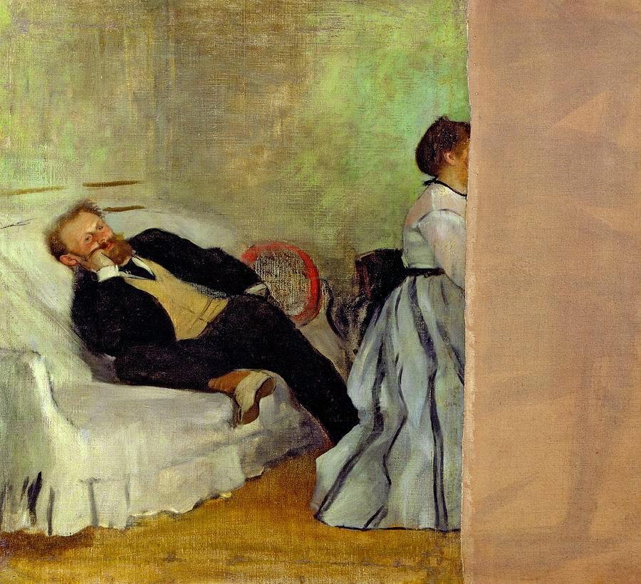 Edgar Degas, Monsieur y Madame Manet (1868-1869), Museo de Arte Municipal de Kitakyushu