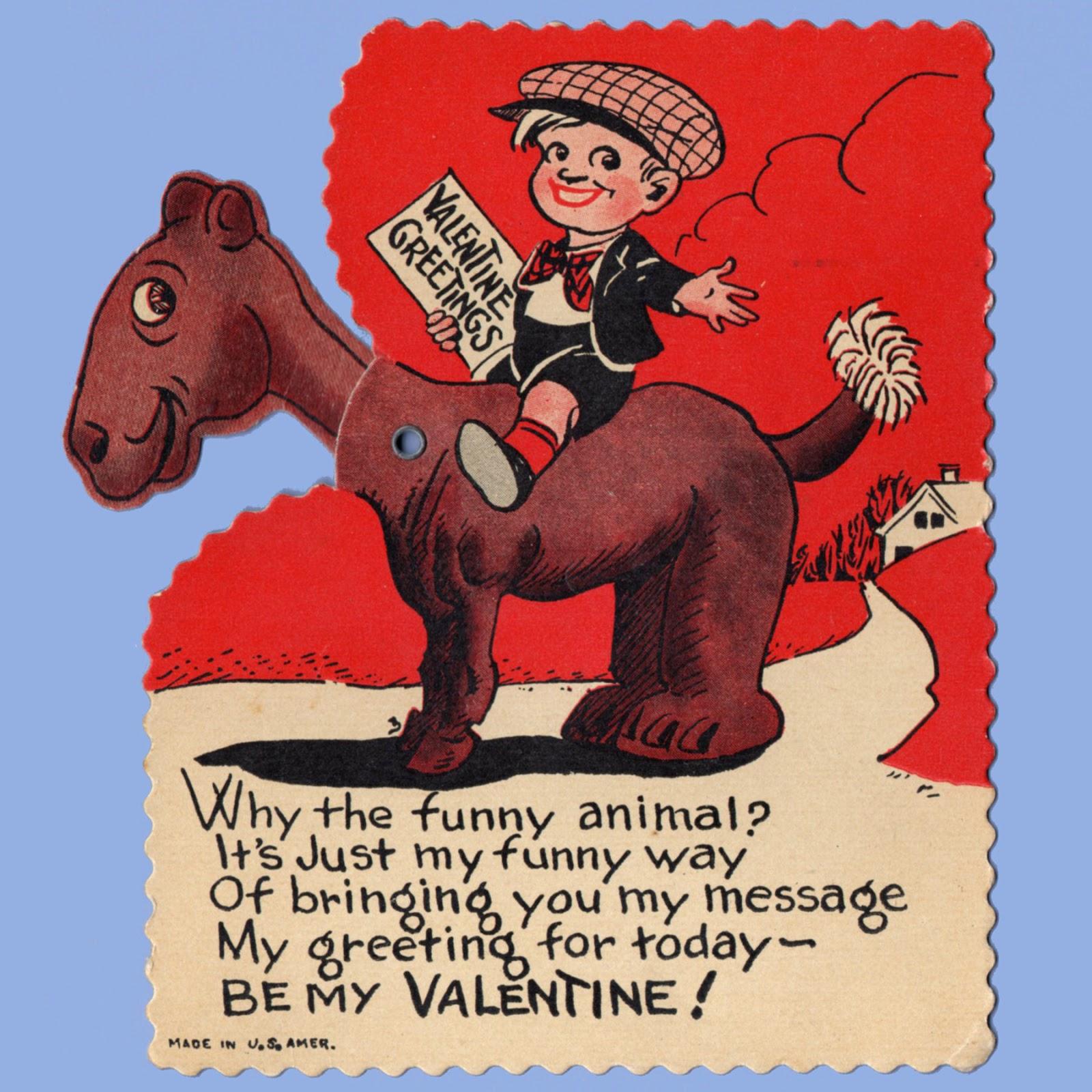 Vintage Valentine Museum Goofy Gumpus Series  Valentine Card