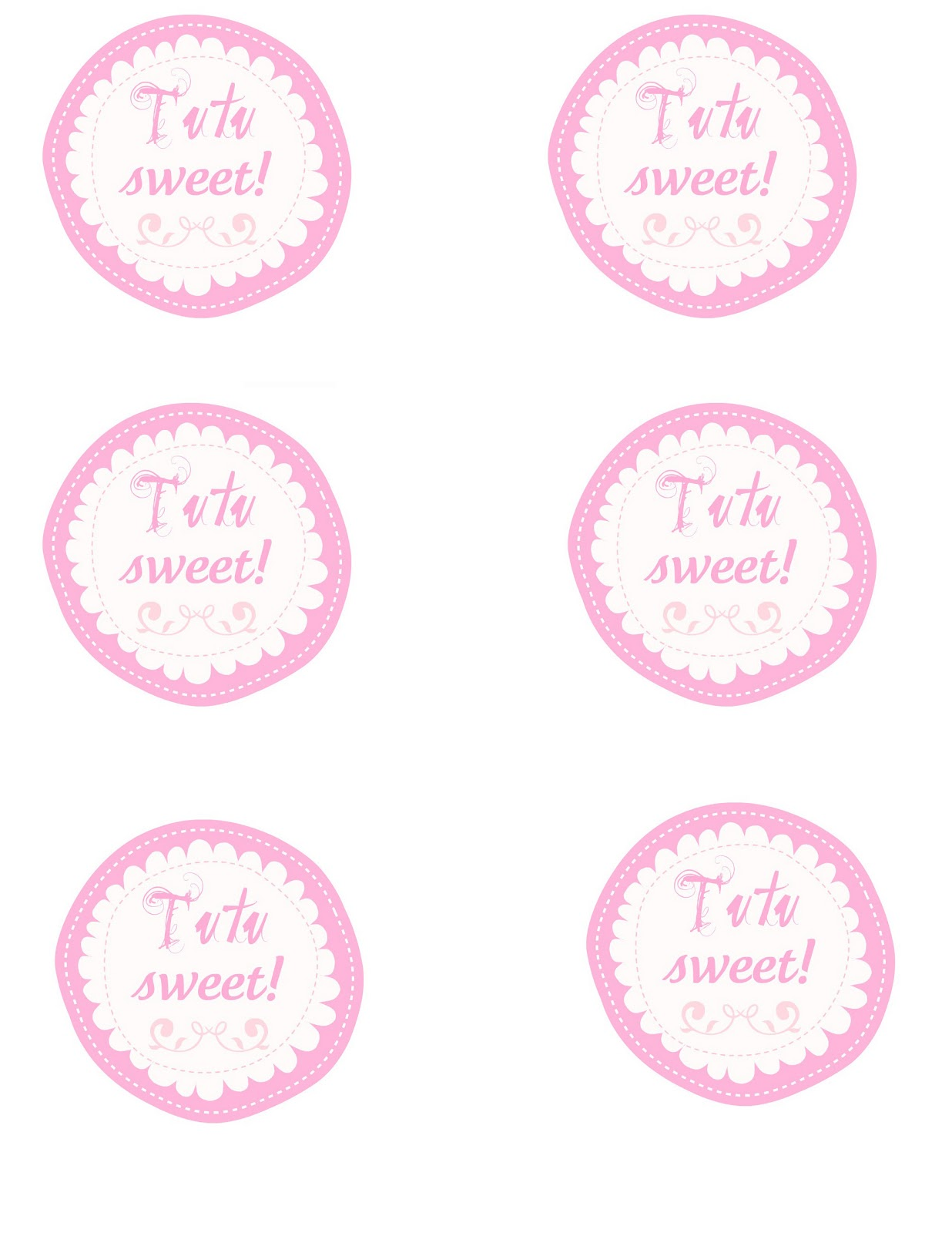 family ever after free printables ballet birthday party