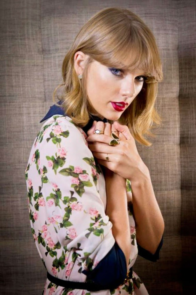 Taylor Swift poses for a photoshoot for The Sunday Times 2014