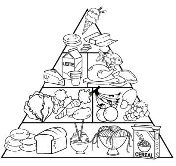 Dibujos para imprimir y colorear: Comida para colorear