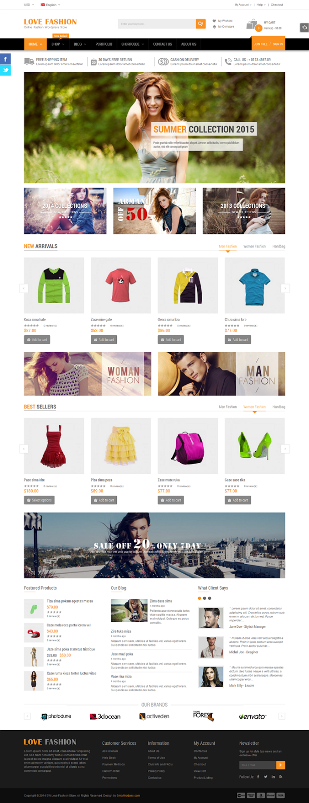 Responsive WP eCommerce Template
