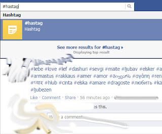 facebook hashtag