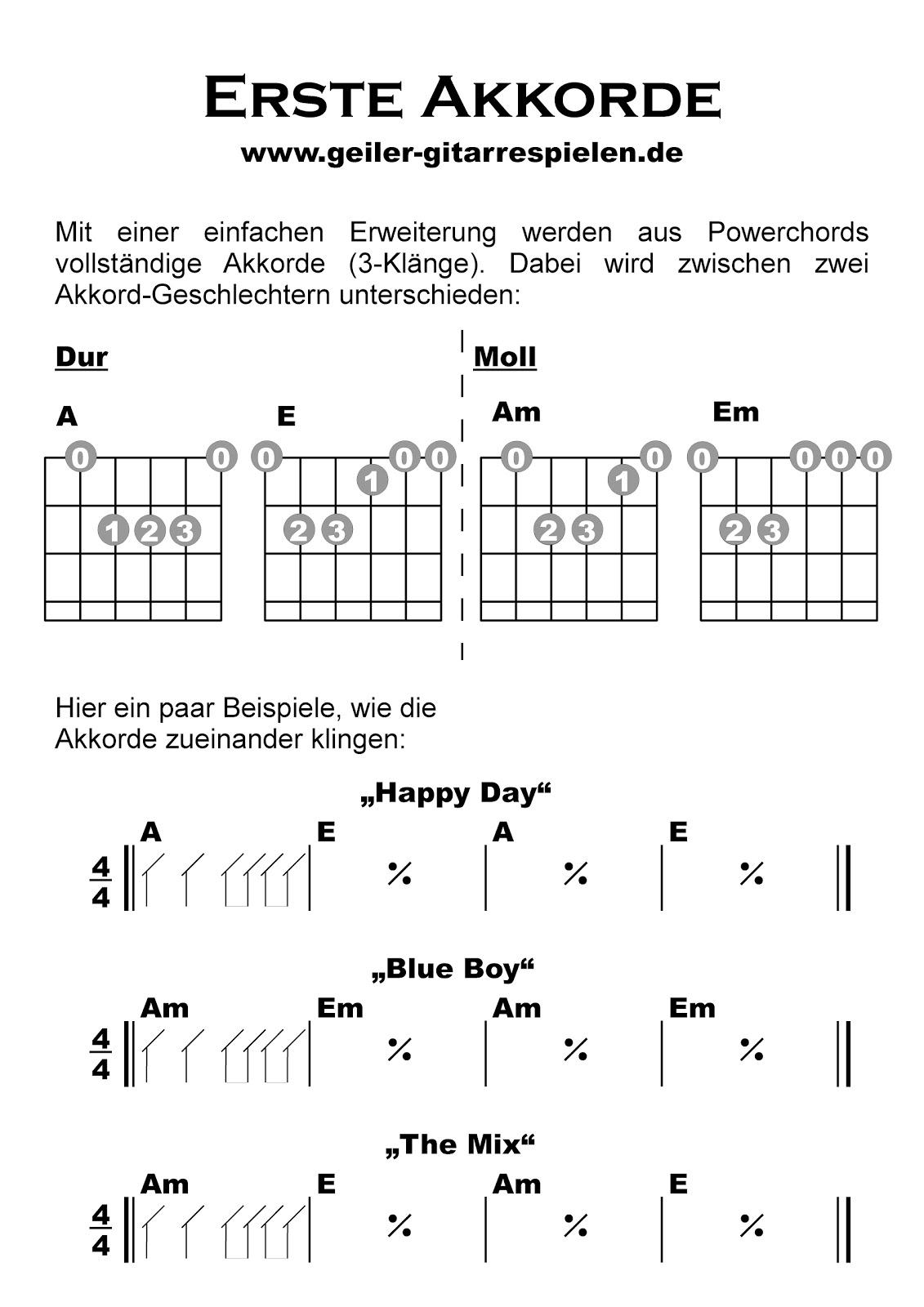 erste akkorde einfach geiler gitarre spielen. Black Bedroom Furniture Sets. Home Design Ideas