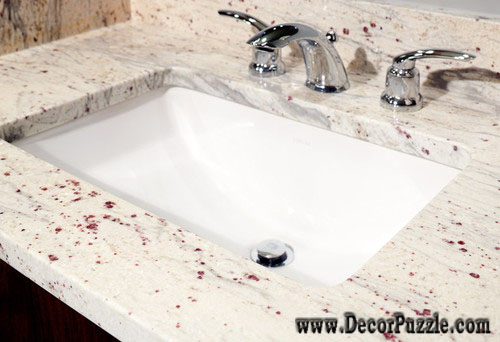River white Granite sink for bathroom, white granite worktops