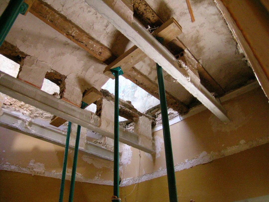 Bosco hurtado arquitecto refuerzo estructural refuerzo for Forjado estructura metalica