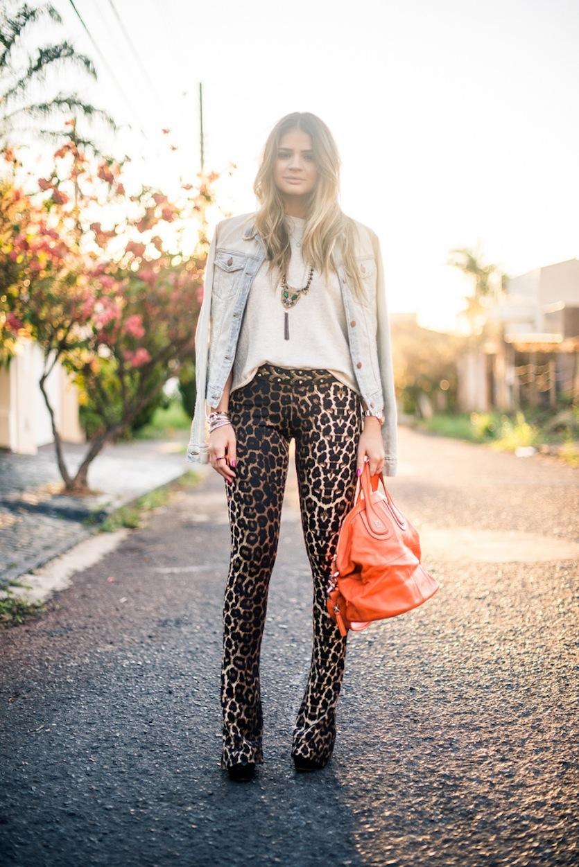 look blog da thássia leopard print camisa jeans