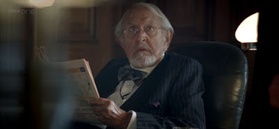 Douglas Wilmer as a Diogenes Gent in The Reichenbach Fall BBC Sherlock