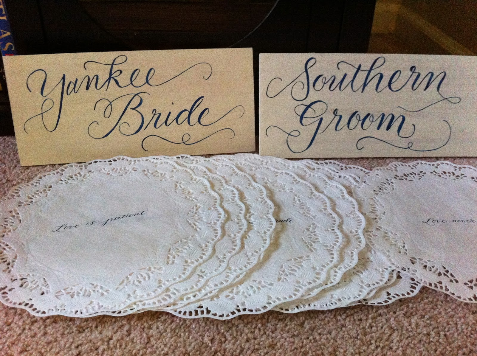 custom calligraphy escort cards