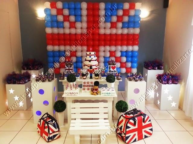 decoracao festa infantil rock inglês