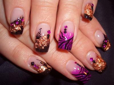 Nail Arts Fashion Dapper Nail Art Designs
