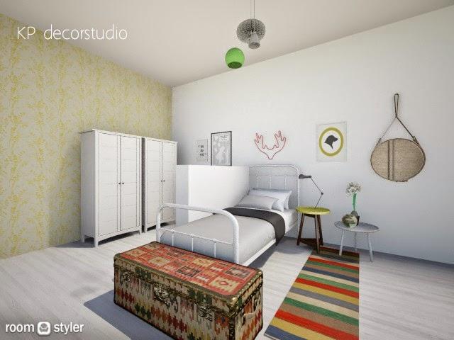 Kp decor studio proyecto de interiorismo dormitorio for Dormitorio juvenil estilo nordico