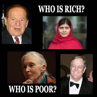 Who is rich? Who is poor?