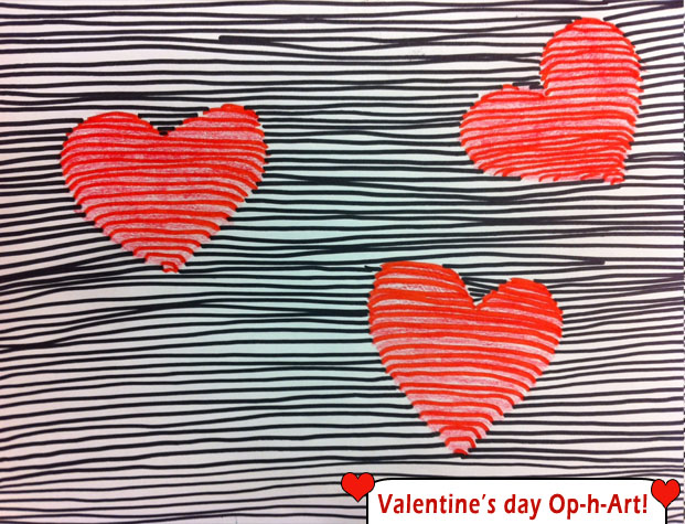 artisan des arts: valentine's day op-h-art optical illusions, Ideas