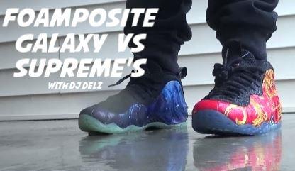 ... sale epic sneaker battle nike foamposite one galaxy vs supreme sneakers  2a253 ac781 0d3f23d42