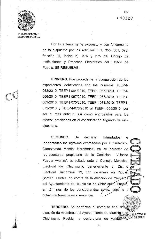 Confirman triunfo de Coalición Compromiso por Puebla en Chichiquila