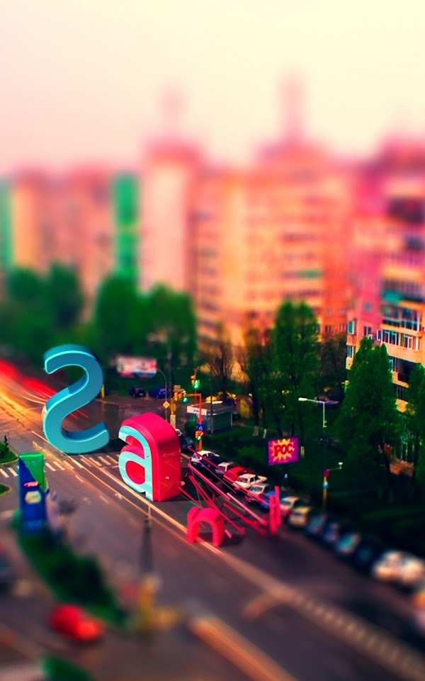 Multicolored City Street Letters  Galaxy Note HD Wallpaper