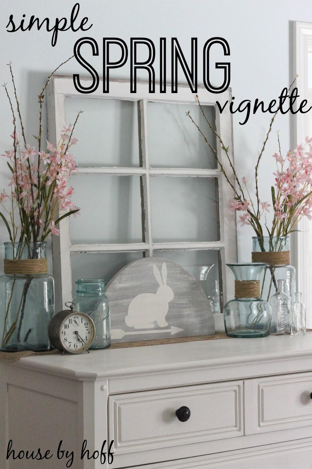 how to decorate for spring via housebyhoff.com