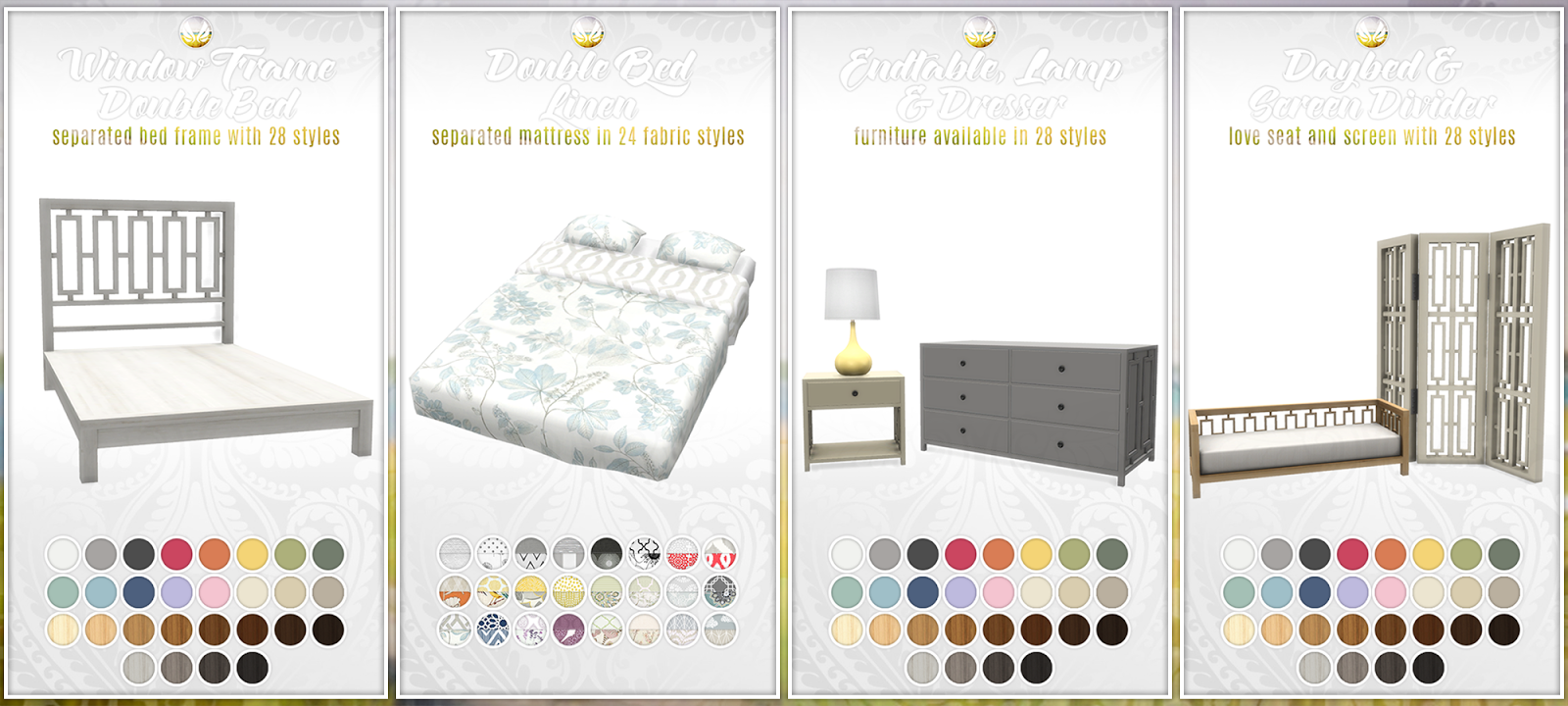 Simsational Designs Updated Bayside Bedroom Set