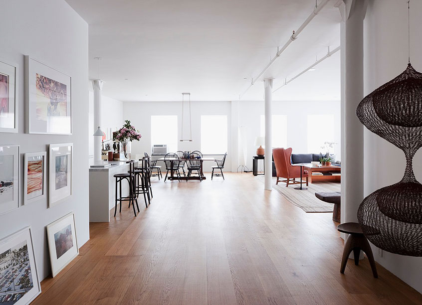Neocribs loft design hudson street loft new york for New york loft apartments