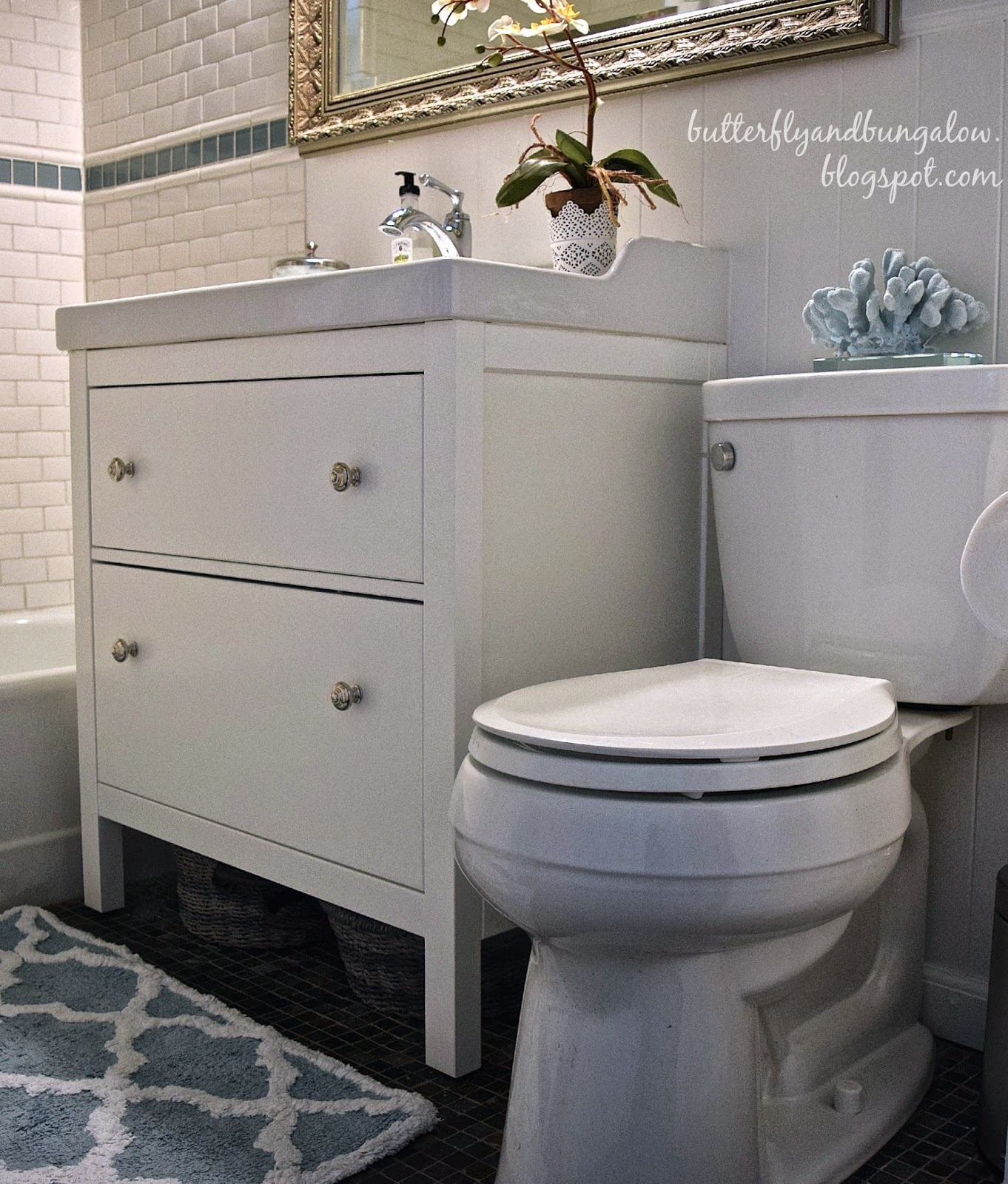 Butterfly 8 8 Bungalow Affordable Cottage Bathroom Remodel