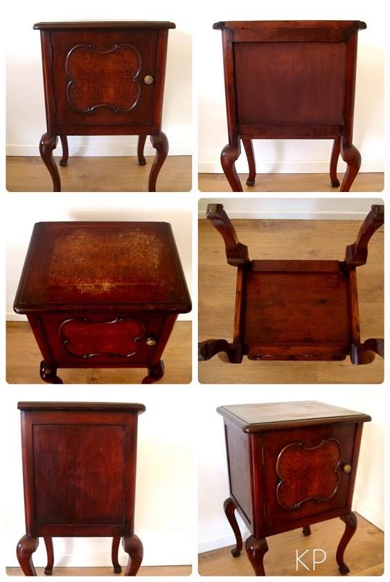 Mesas de luz antiguas de madera. Mesitas de noche para dormitorio.