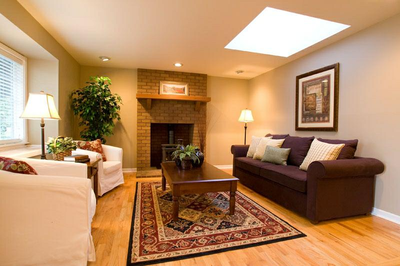 Home Design Warm Living Room Style