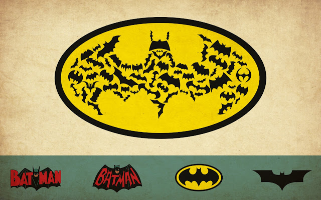 batman logos wallpaper grungy