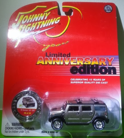 Johnny Lightning 10TH ANNIVERSARY 2003 HUMMER H2 SUV