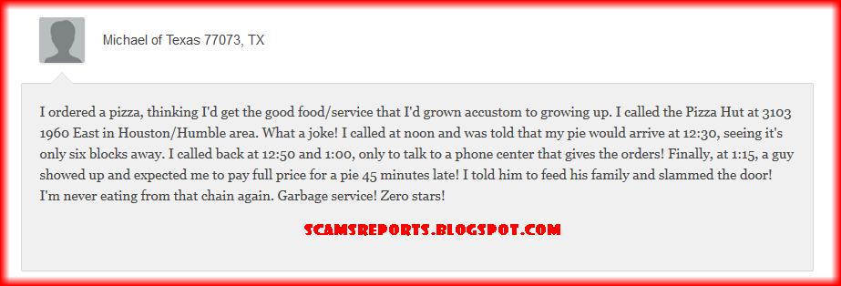 pizza hut complaint