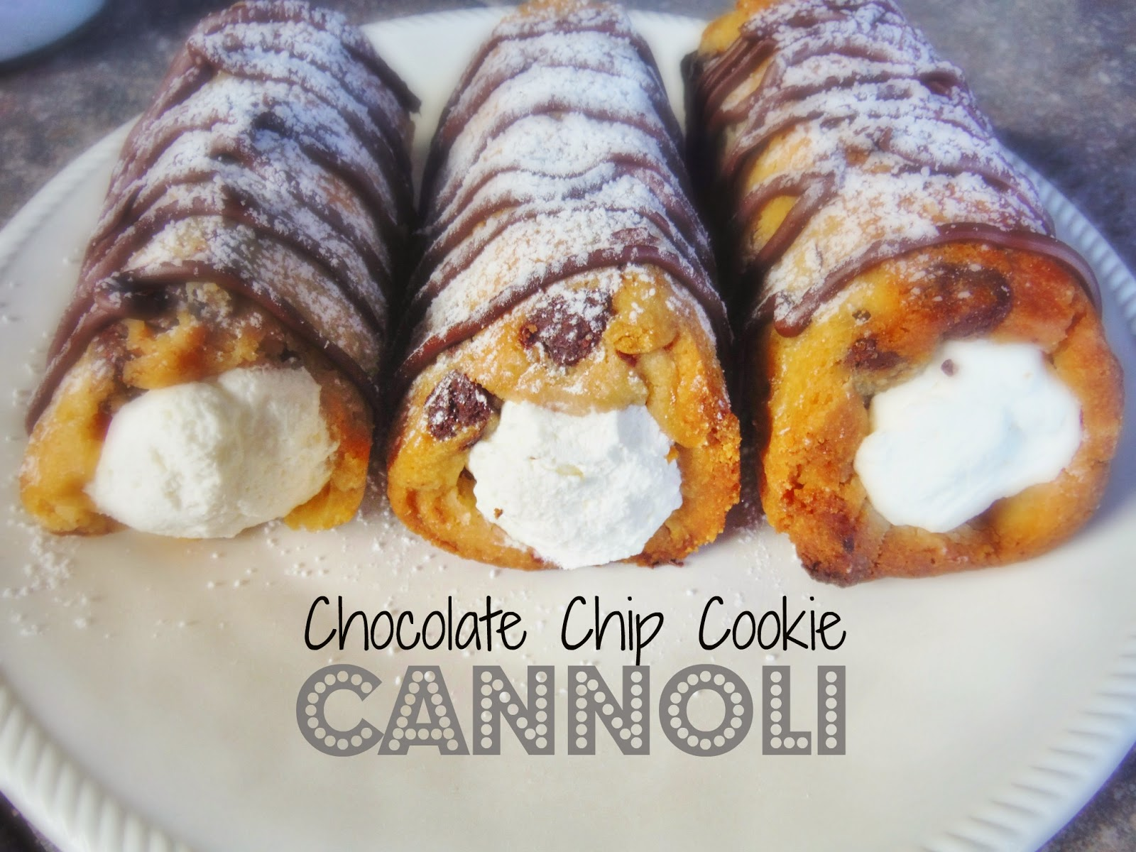 Chocolate Chip Cookie Cannoli