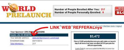 Link Refferal World Prelaunch