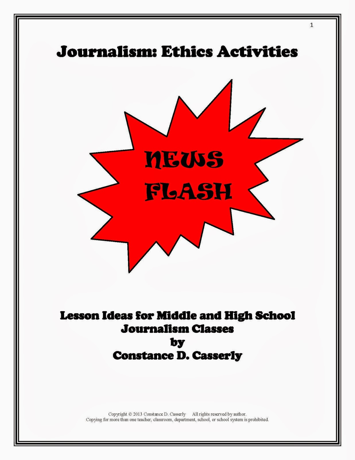 Journalism Ethics Activities cover