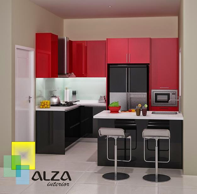 Jasa Kitchen set Murah minimalis KS-L03 Surabaya