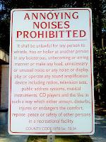 annoying noises sign