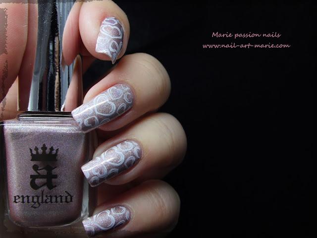 Nail art coeurs stampés2