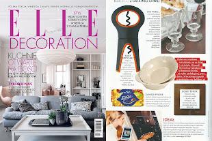 nasze kieliszki La Rochere w Elle Decoration