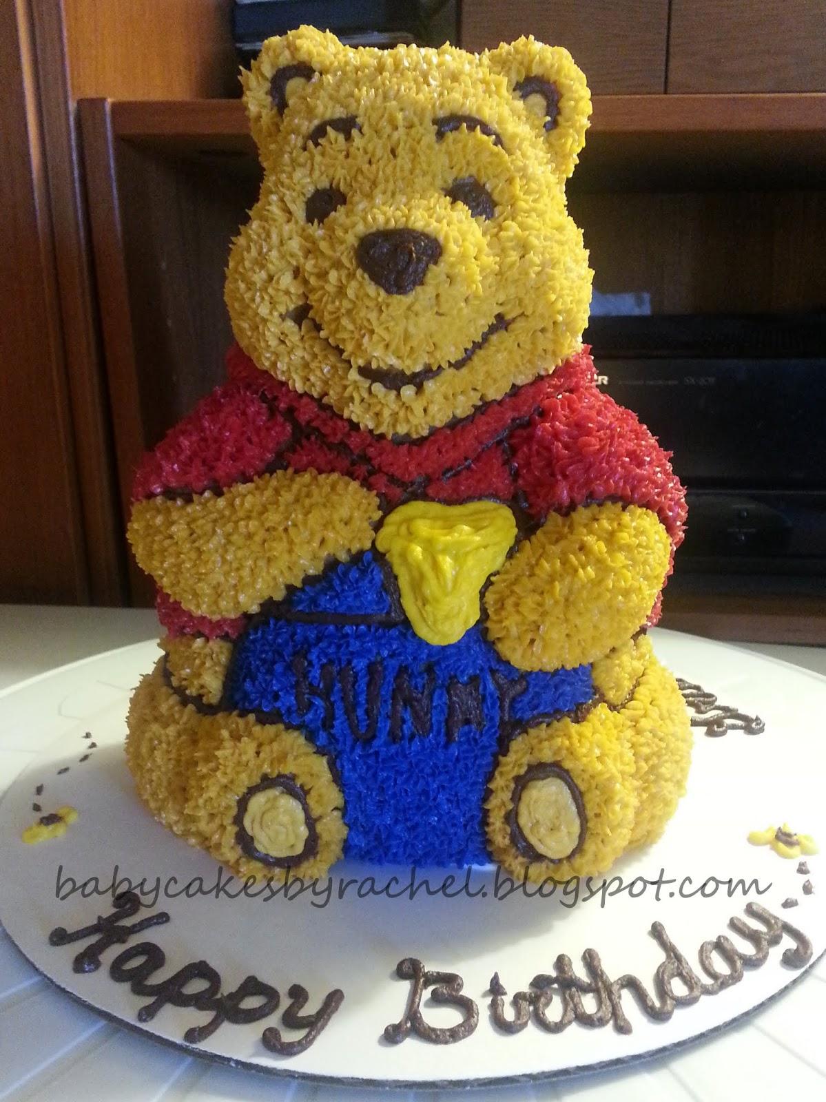 Babycakesbyrachel Pooh Bear Cake How To Bake A 3d Cake