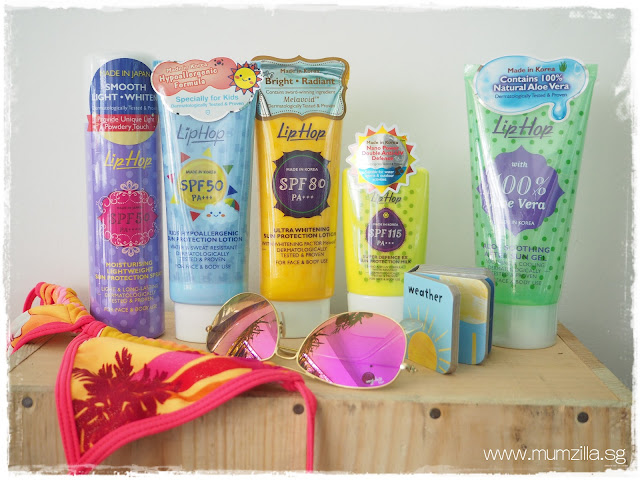 Liphop sunscreen, sun protection, sun care products sponsored review Singapore blogger Mumzilla Veron Zhen