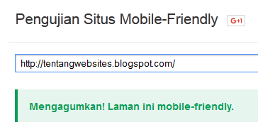 cara cek template mobile friendly