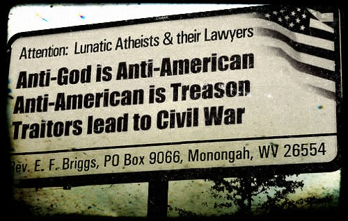 Bigoted billboard attacks atheists