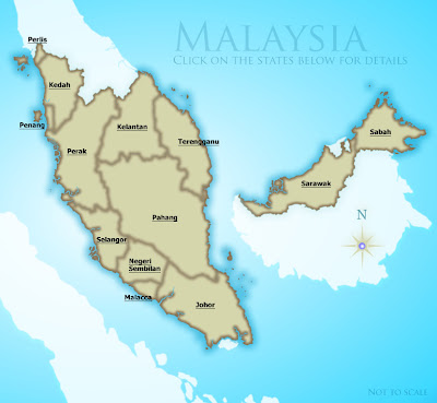 Malaysia Area Map Pictures