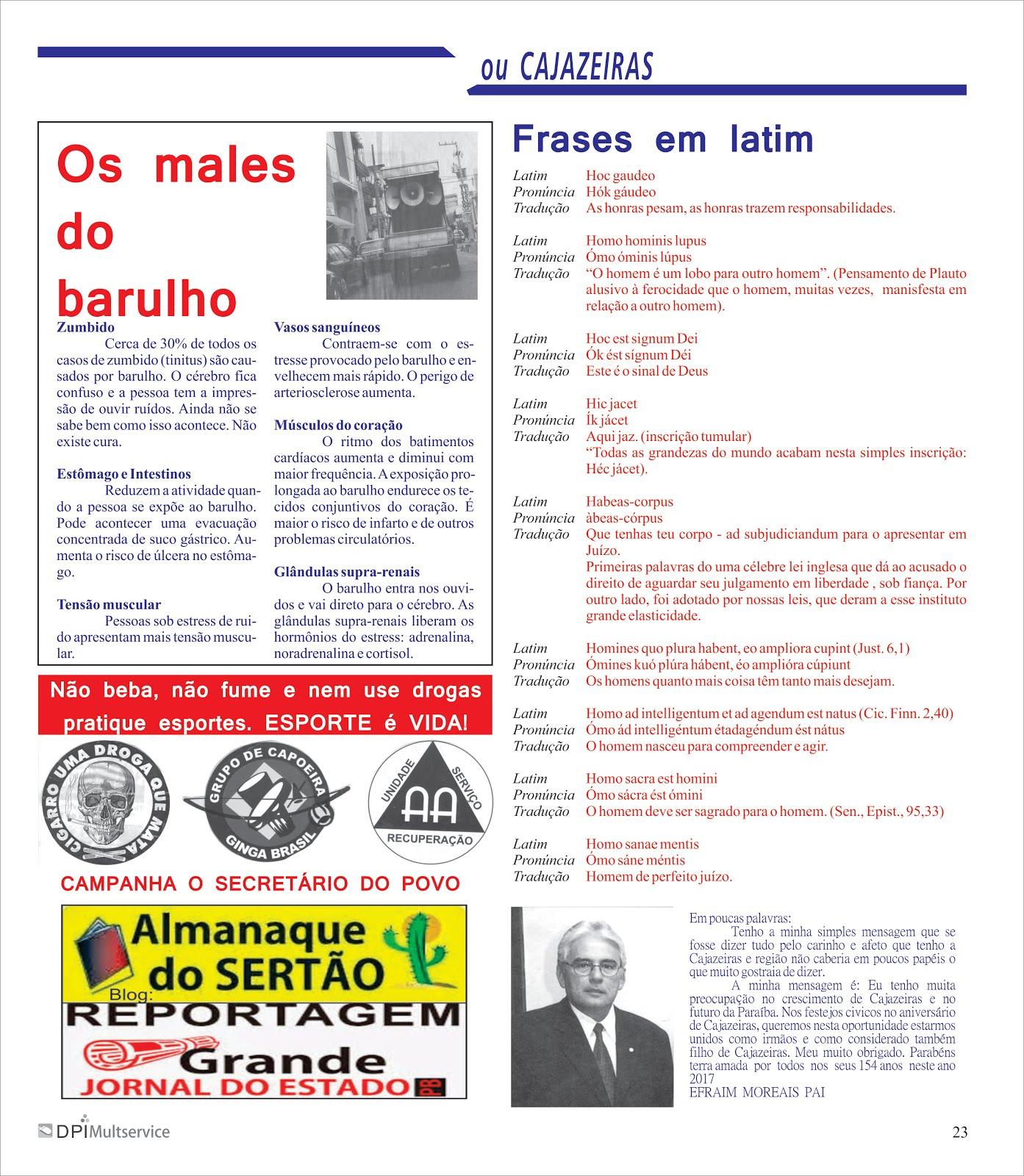 OUTROS  TEMA  DA REVISTA CAJAZEIRAS  PB